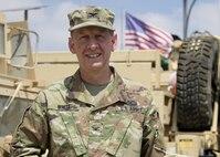 Col. Kirk White, officer in charge of Task Force Spartan-Jordan.