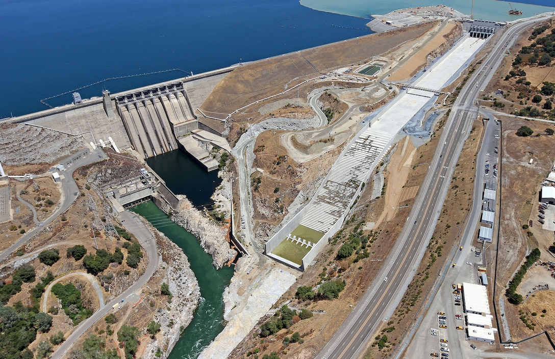 The Folsom Dam Auxiliary Spillway project is an approximately $900-million cooperative effort between the U.S. Army Corps of Engineers and the U.S. Department of the Interior, Bureau of Reclamation.
