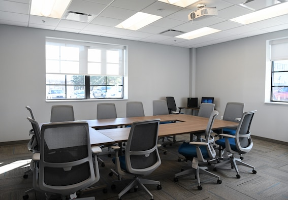 A conference room in the newly-renovated Civil Engineering, Operations and Maintenance Building at Arnold Air Force Base, Tenn., is shown in this photo Jan. 6. (U.S. Air Force photo by Jill Pickett)