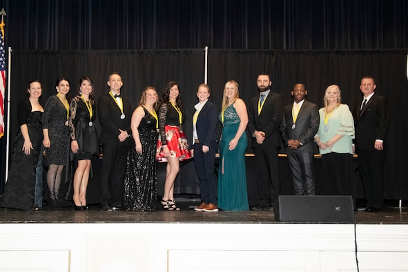 Twelve individuals and one team were recognized as the best in the wing and received the coveted eagle trophies for their respective categories.
