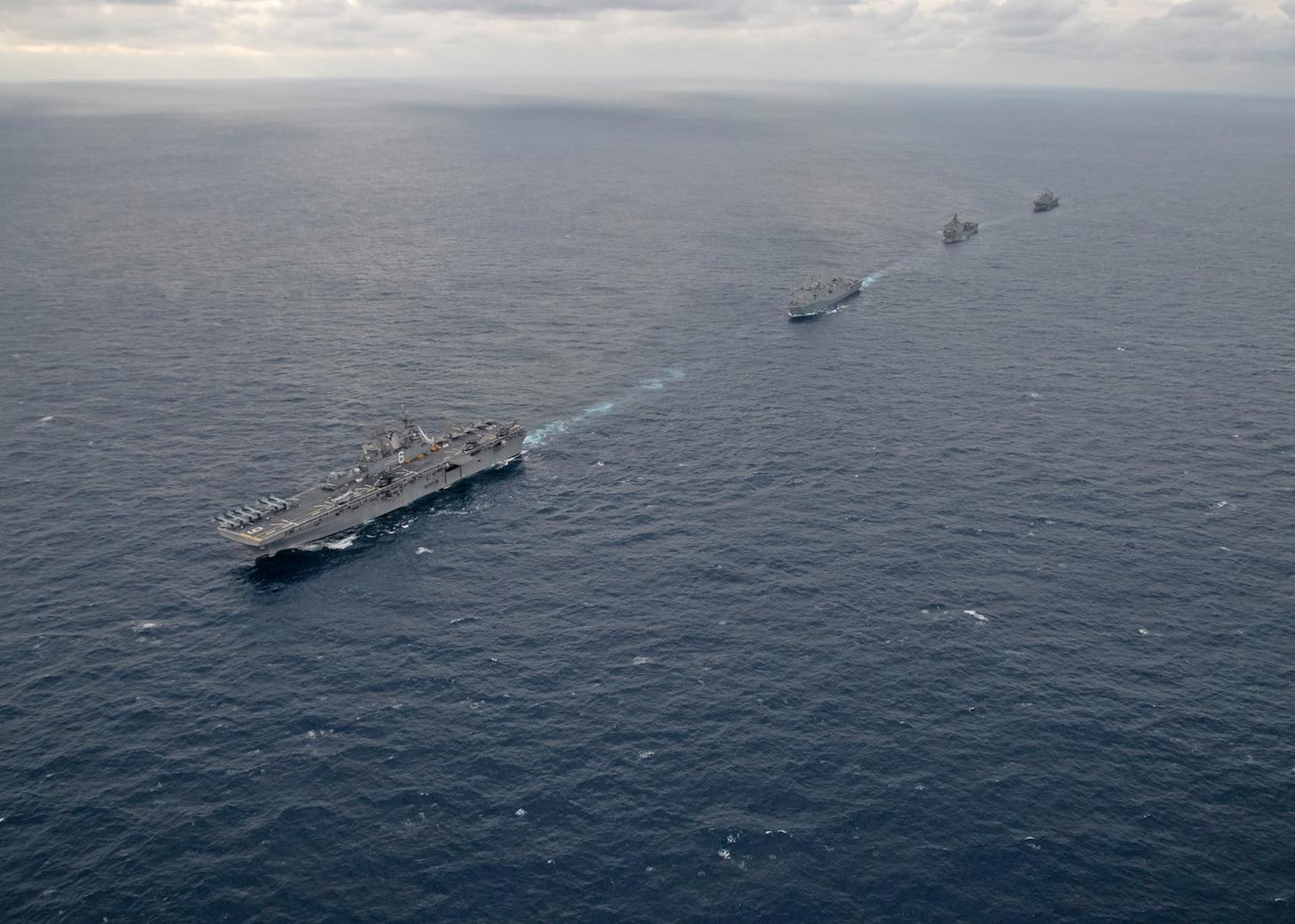 America ESG sails with USS Blue Ridge (LCC 19)