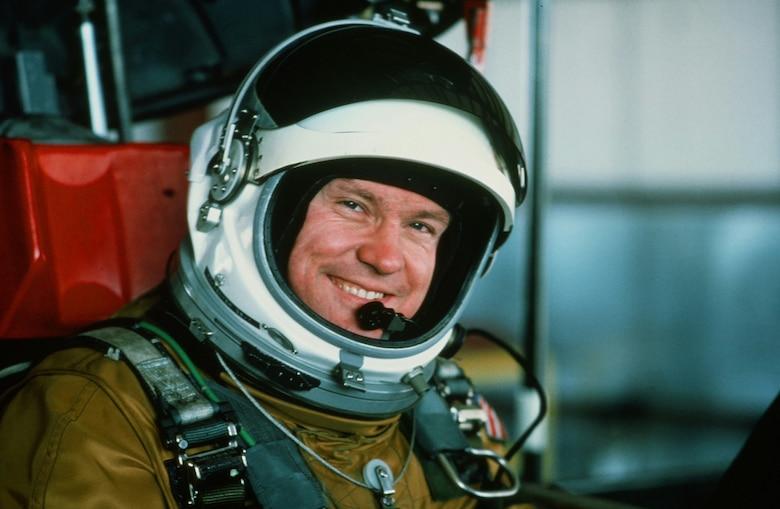 Col. Carpenter in cockpit.