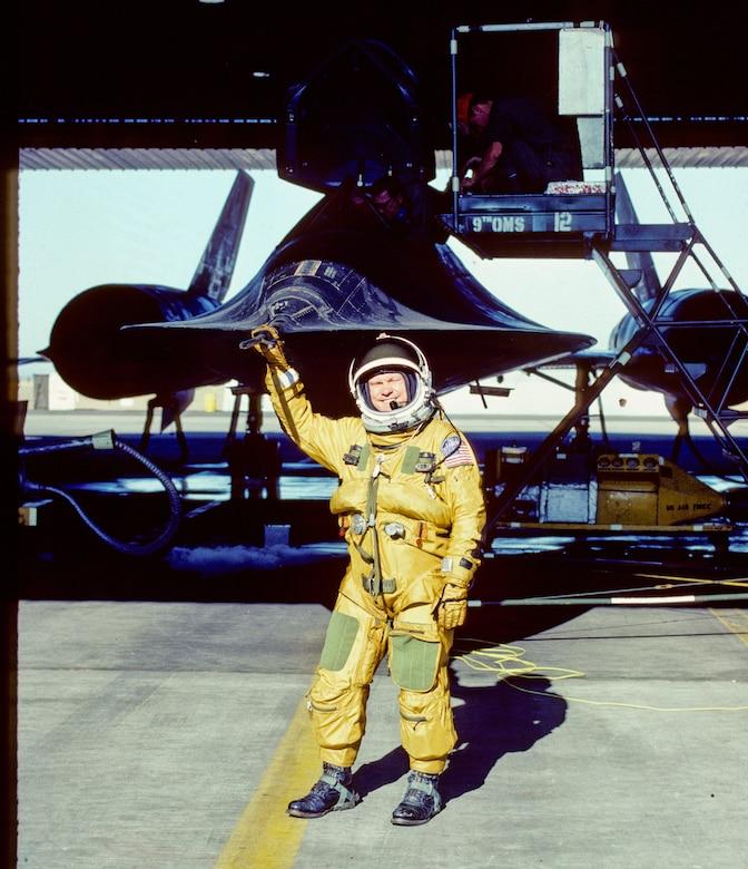 Col. Carpenter with SR-71