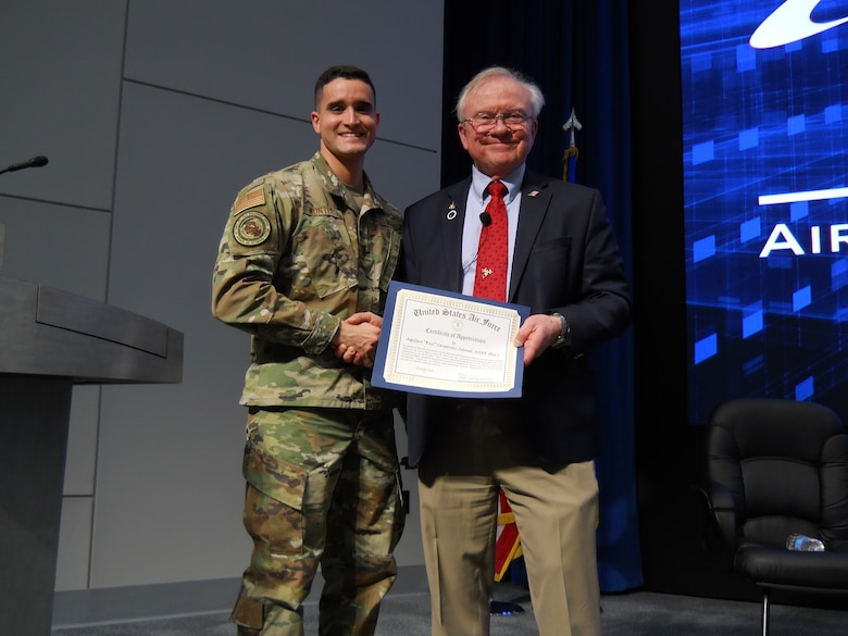 Col. Carpenter presented certificate.
