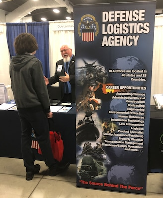 DLA Land and Maritime recruitment booth at the 2020 OFIC CareerFest
