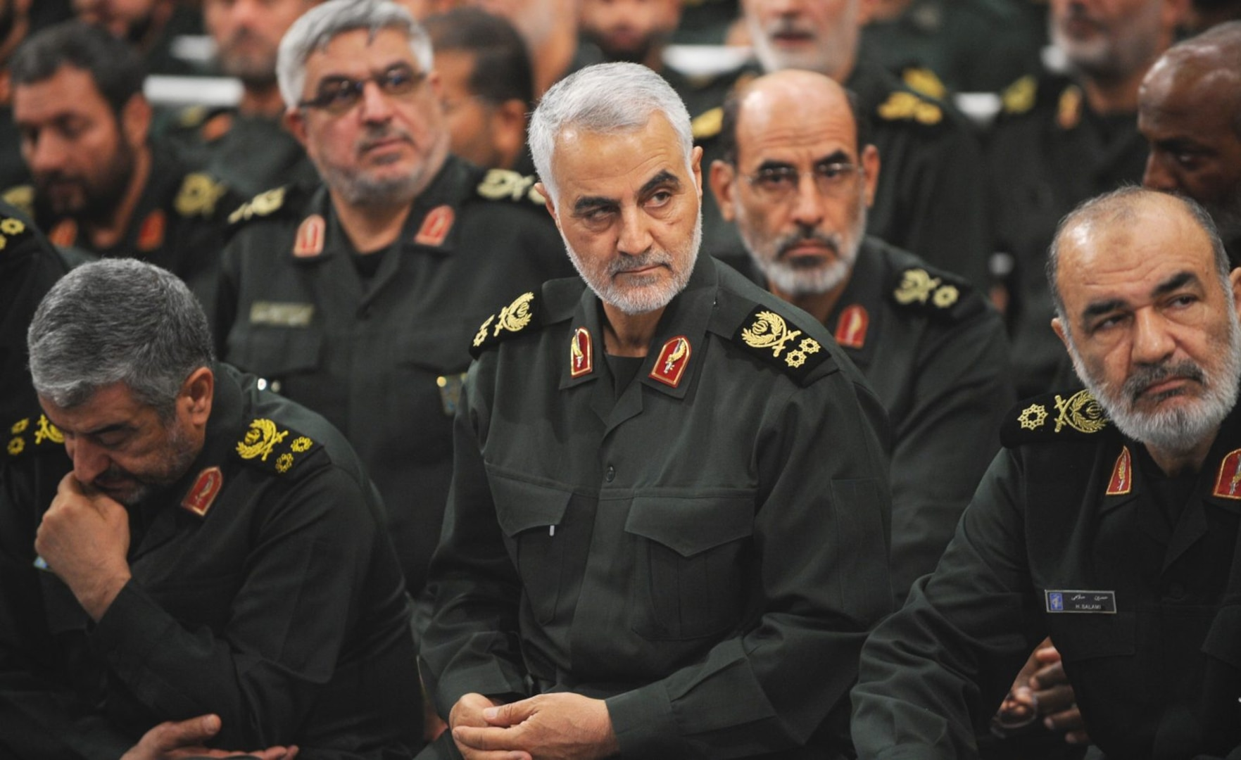 Iranian Quds Force commander Qassem Soleimani attends Iranian supreme leader Ayatollah Ali Khamenei's meeting with the Islamic Revolution Guards Corps in Tehran, Iran, on September 18, 2016