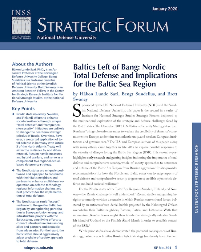 Baltics Left of Bang: Nordic Total Defense and Implications for the Baltic Sea Region