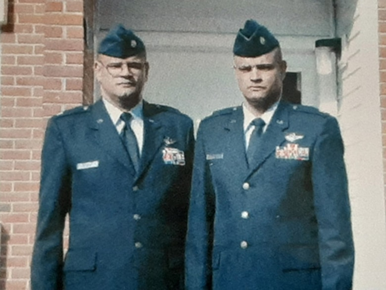 Kelvin Bowen, left, and Melvin Bowen, are identical twins who both served 23 years in the United States Air Force upon separation in August 2007. The brothers spent more than half of their Air Force career stationed at the same base. (Courtesy photo by Kelvin Bowen)