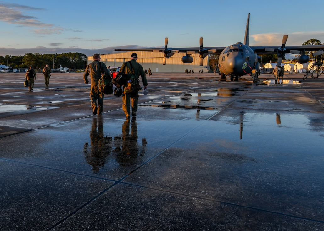 More than 100 Reserve Citizen Airmen from Youngstown Air Reserve Station and four C-130H Hercules aircraft assigned to the 757th Airlift Squadron traveled to Jacksonville JetPort at Cecil Airport in Jacksonville, Florida, Jan. 21-26, to carry out Operation Dumbo.