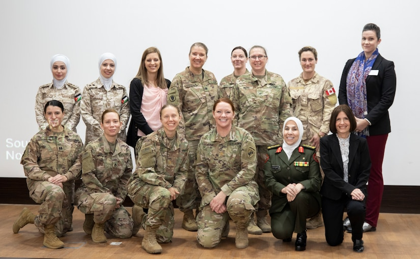 Female leaders pose for a photo after a Gender Integration Working Group, hosted by the Civil Liaison Team-Jordan, Civil Affairs Support Detachment-U.S. Army Central, Jan. 23, 2020 at Joint Training Center-Jordan. Jordan is not only one of the United States' closest allies in the region, but in the world as a whole. This is not going to change. (U.S. Army photo by Sgt. 1st Class Shaiyla B. Hakeem)