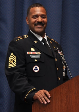 Tomás Hawkins served as the second U.S. Transportation Command senior enlisted leader from Dec. 1, 2009 to Nov. 10, 2011. During that timeframe, Hawkins advised two commanders and senior staff on all matters concerning joint force integration, readiness, professional development, and effective utilization of the enlisted corps. He retired on Apr. 1, 2012, achieving a more than 33-year Army career.