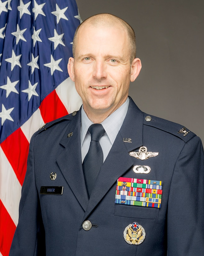 Col. Matthew Higer, 412th Test Wing Commander