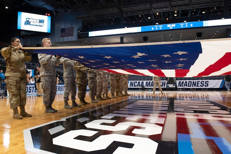 Dayton First Four basketball tip off March 17 (U.S. Air Force photo/Michelle Gigante)