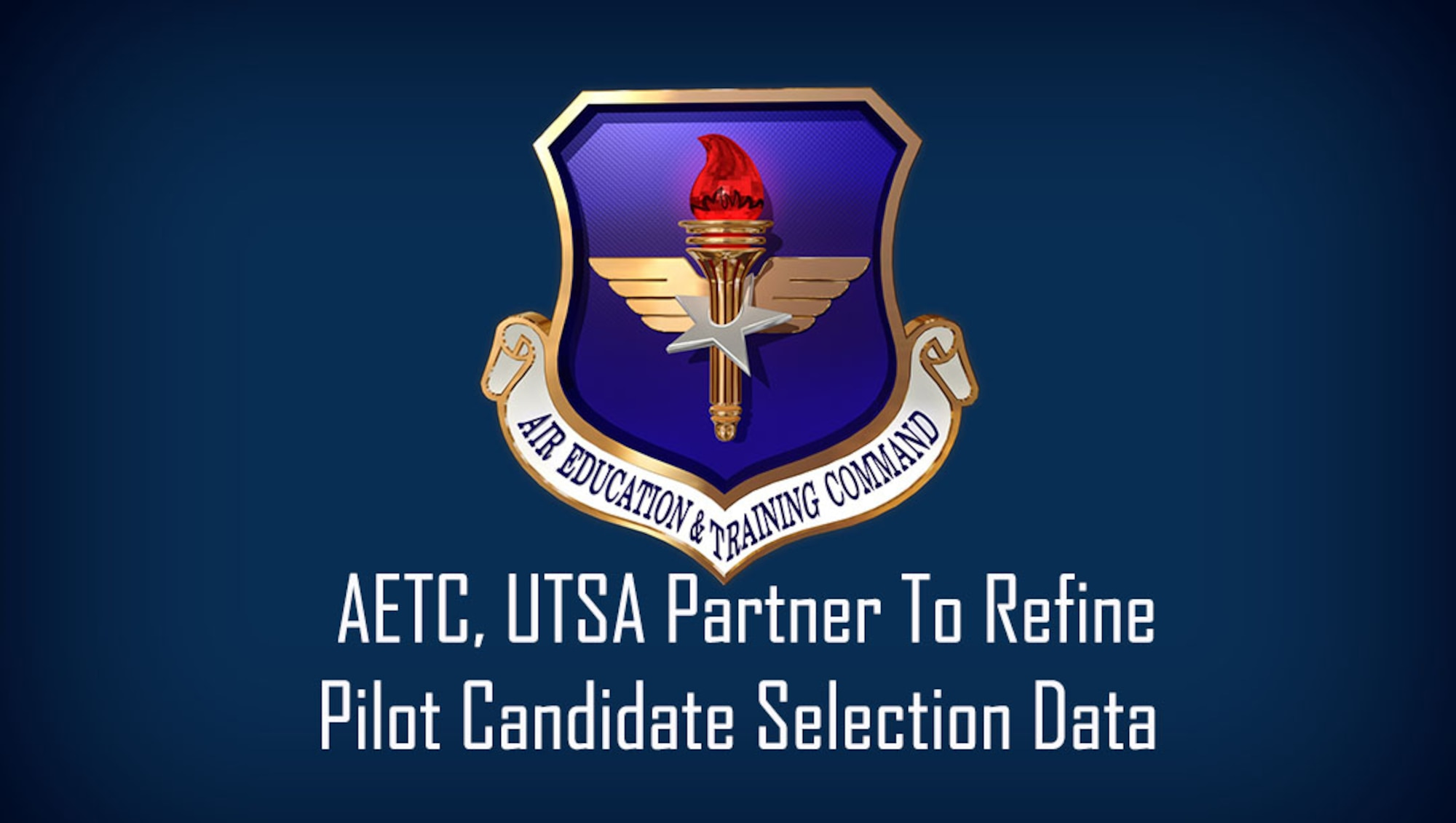 In an effort to gain more insight into the predictable attributes of a successful pilot training candidate, Air Education and Training Command turned to the data analytics program at the University of Texas-San Antonio to help them continue their efforts to refine and validate the Pilot Candidate Selection Method as part of an Educational Partnership Agreement. (U.S. Air Force graphic / Dan Hawkins)