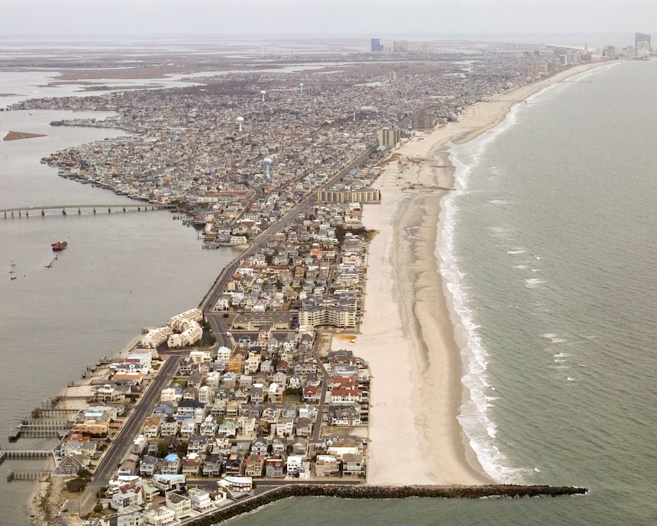 The Absecon Island project includes a dune and berm system in Atlantic City, Ventnor, Margate and Longport. It is designed to reduce the risk of storm damages to infrastructure and property.