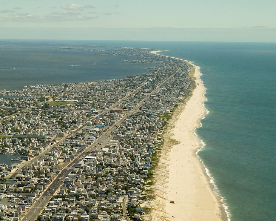 The Long Beach Island project includes a dune and berm system that is designed to reduce the risk of storm damages to infrastructure and property.