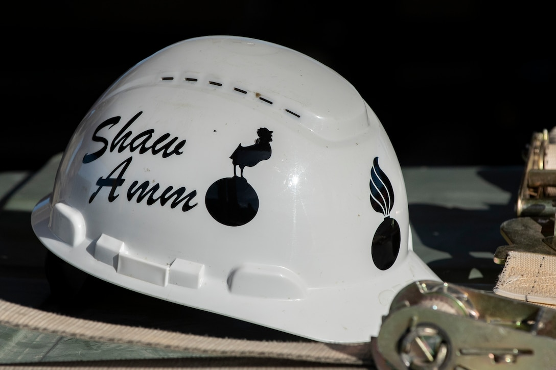 a picture of the helmet worn by the AFCOCOMP team.