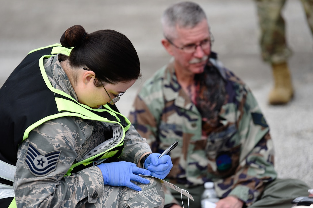The 45th Medical Group held their Ready Eagle exercise 27-31 Jan., 2019, at Patrick Air Force Base, Fla. The medical group worked alongside the 45th Security Forces Squadron and the 45th Civil Engineer Squadron, which helped equip our team for the most accurate, timely and tactical response to home station medical hazards. (U.S. Air Force photo by Airman 1st Class Zoe Thacker)