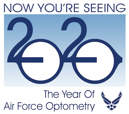 Air Force optometry came into existence around the same time the Air Force Medical Service stood up on July 1, 1949, and has been caring for the vision of aviators and warfighters ever since. 2020, 'The Year of Optometry', focuses on ensuring eye health and vision care are a priority. (Courtesy graphic)