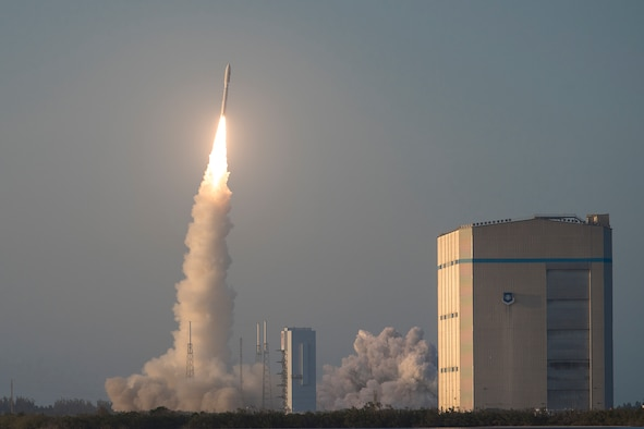 Atlas V rocket launches.