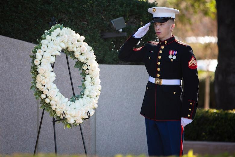 Pendleton Marines participate in honoring President Reagan