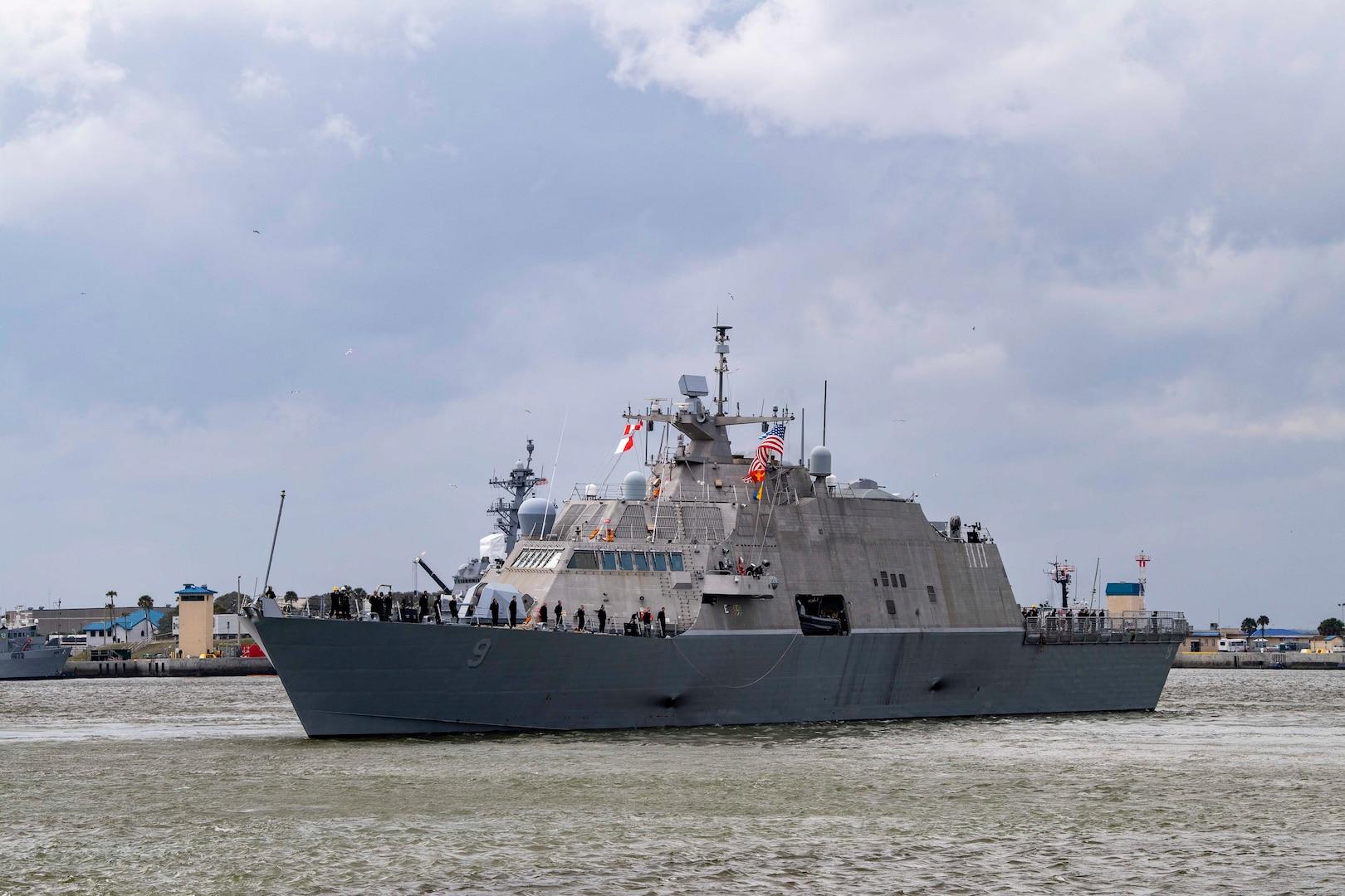 USS Little Rock (LCS 9) departs Mayport, Fla.