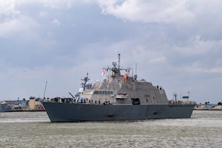USS Little Rock (LCS 9) departs Mayport, Fla.