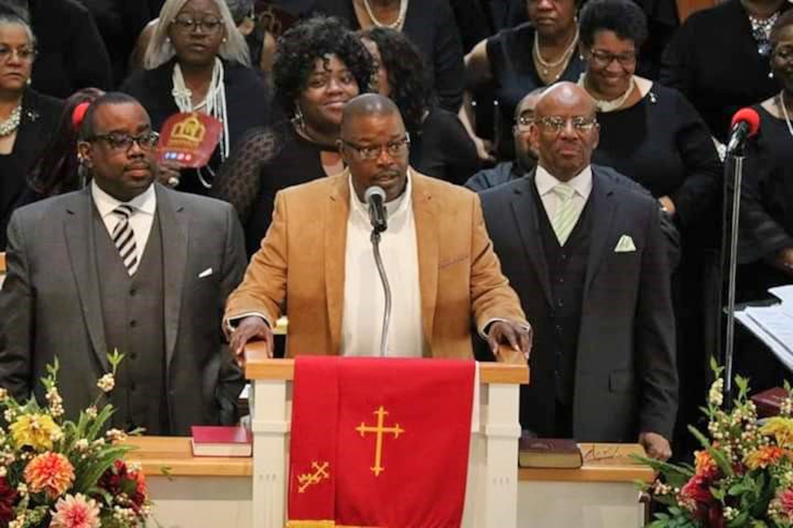 David Donald leads the 2020 Martin Luther King Jr. Community Day Celebration Service for Tabernacle Baptist Church in Petersburg, Virginia