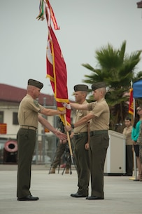 CLB-5 Change of Command from LtCol James to LtCol Soto Jr.