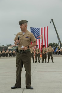 CLB-5 Change of Command from LtCol. James to LtCol. Soto Jr.