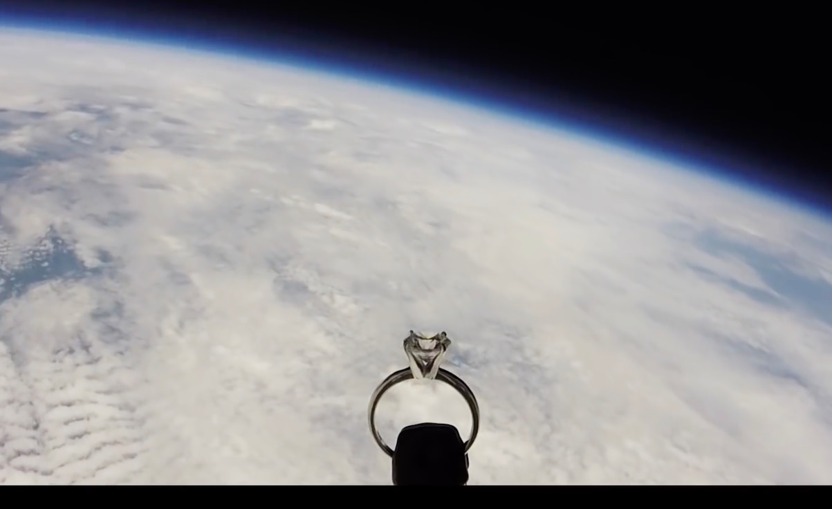 Team Whiteman pilot's proposal is out of this world