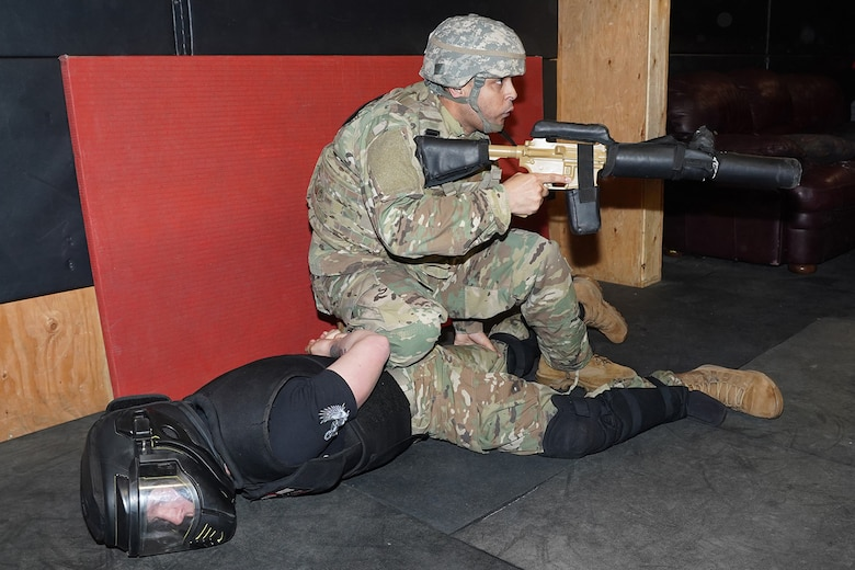 U.S. Army Alaska Soldiers train on Modern Army Combatives Program grappling and tactical scenarios at Joint Base Elmendorf-Richardson, Alaska, Feb. 6, 2020