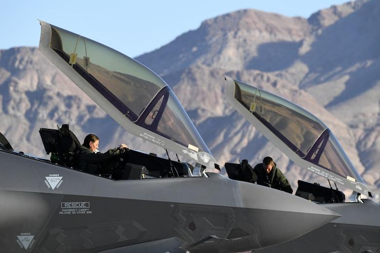 F-35A Lightning II pilots return after exercise