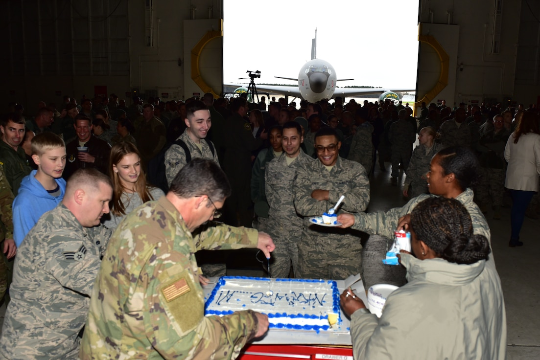 The 916 ARW farewell ceremony to tail 0349.