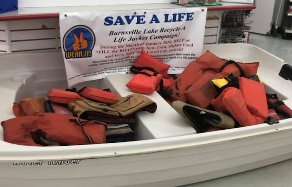 Save a Life - Burnsville Lake Recycle a Life Jacket January 2020 Campaign