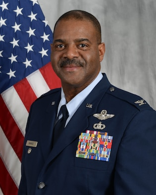 Col. Esteban Ramirez, 507th Air Refueling wing vice commander, sits for an official portrait. (U.S. Air Force photo)