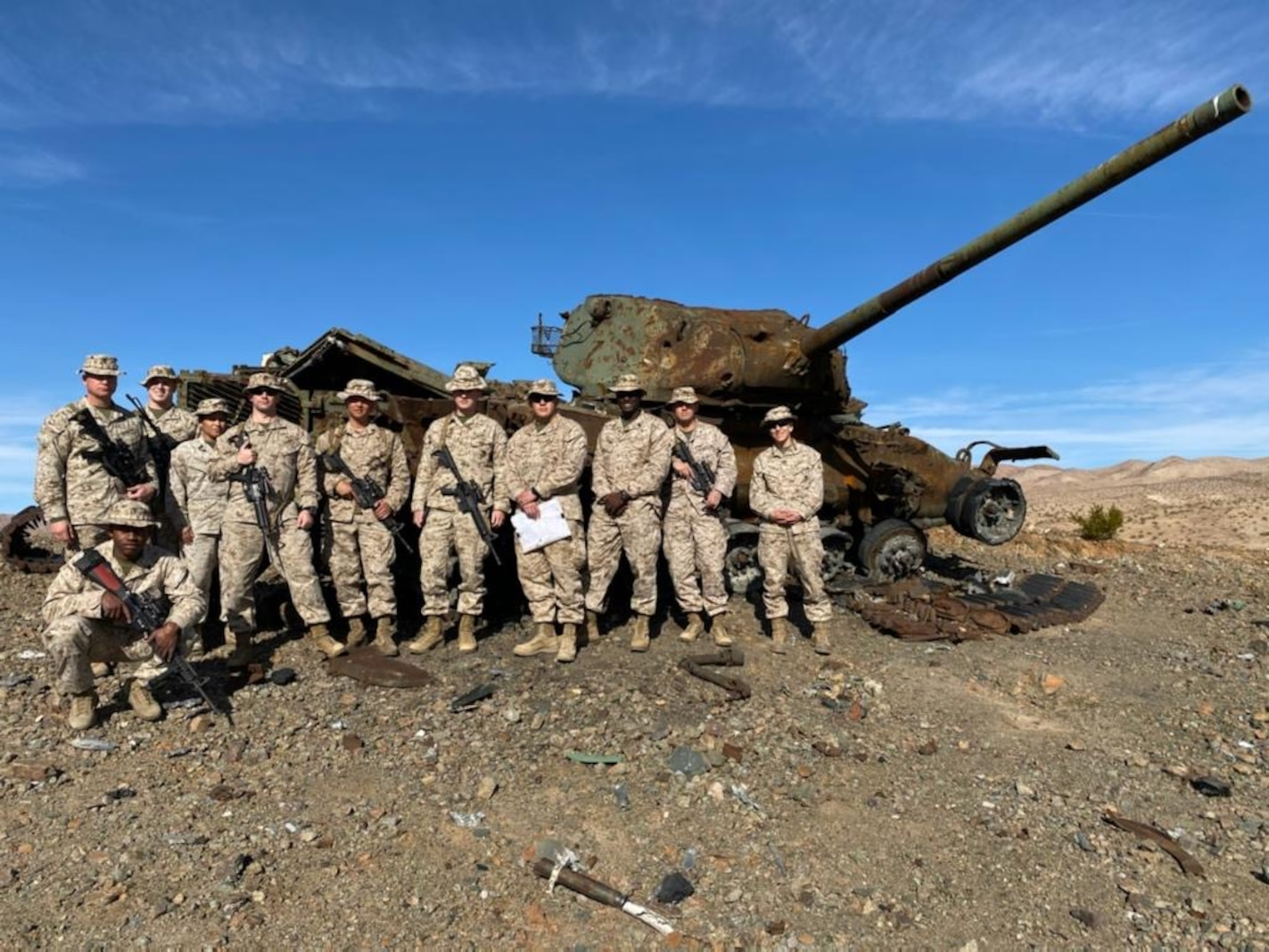 CLB-5 leadership conducts reconnaissance at ITX 2-20.