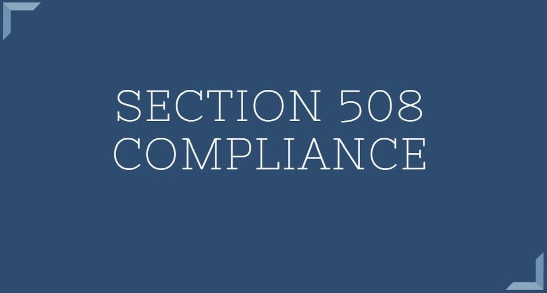 Graphic image Section 508 Compliance