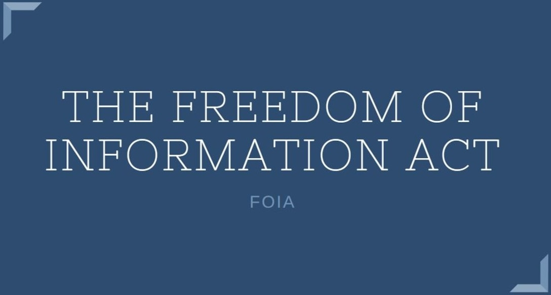 Graphic image The Freedom of Information Act