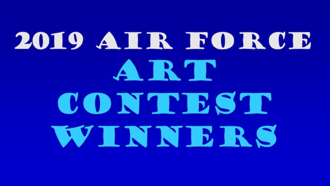 Cover photo to announce the winners of the 2019 Air Force Art Contest.