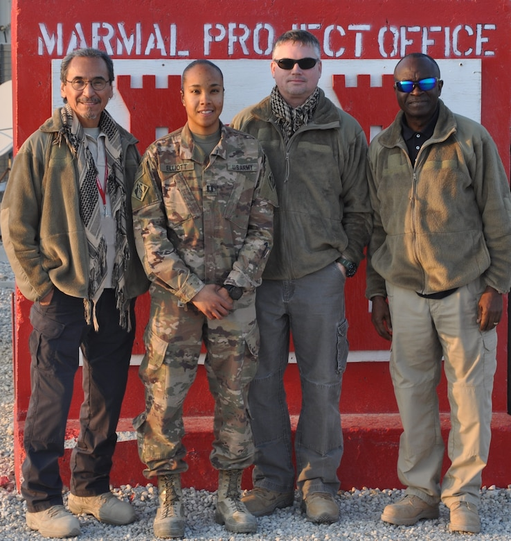 Members from the Marmal Project Office bid farewell to Cpt. Jordan Elliott, their Officer in Charge.