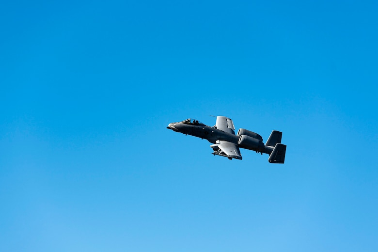 Photo of an A-10C Thunderbolt II flying.