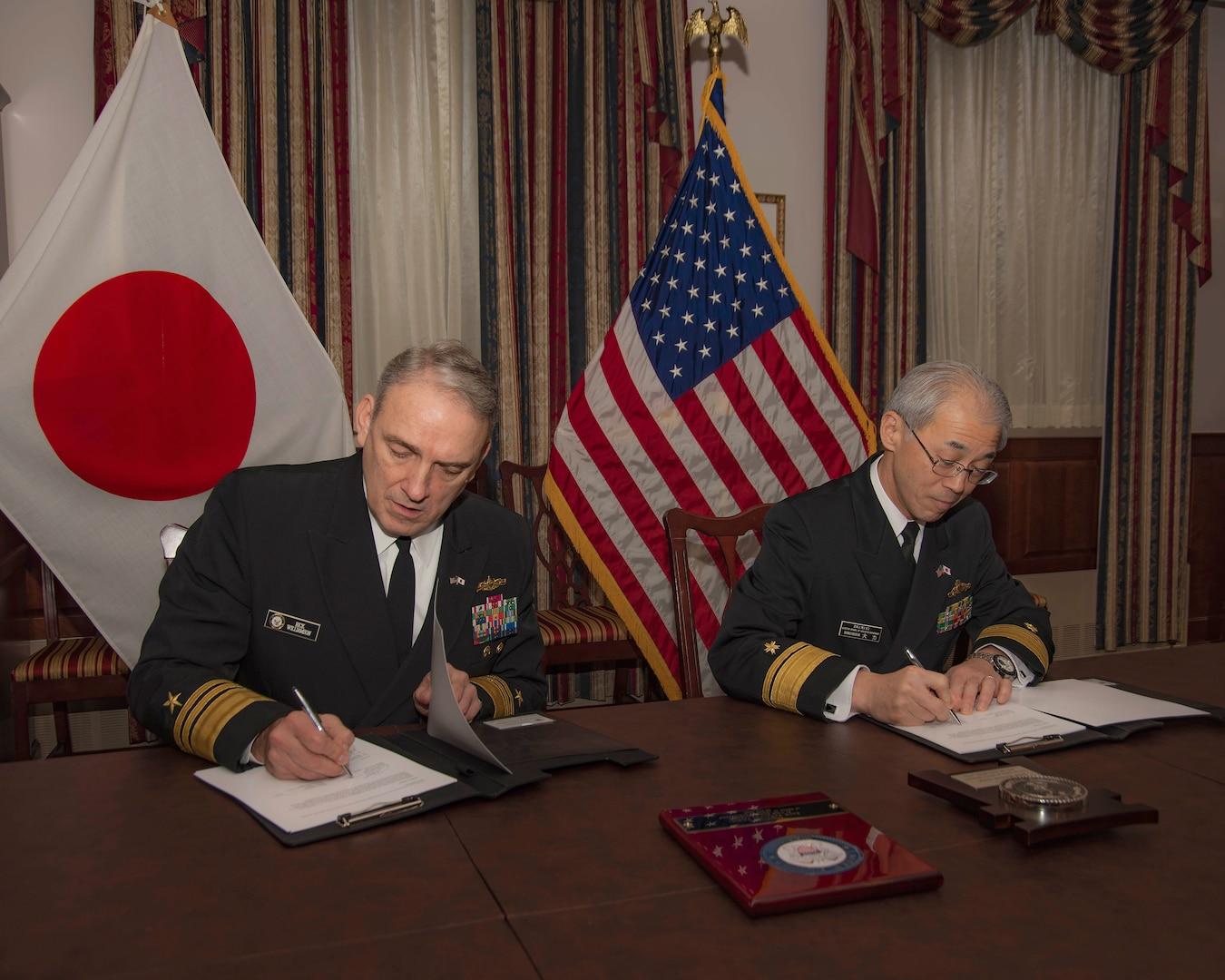 U.S. Navy, Japan Maritime Self Defense Force Sign Logistics Interoperability Framework