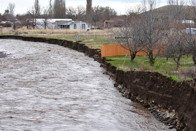 Erosion near Marie Dorion Park in Milton Freewater.