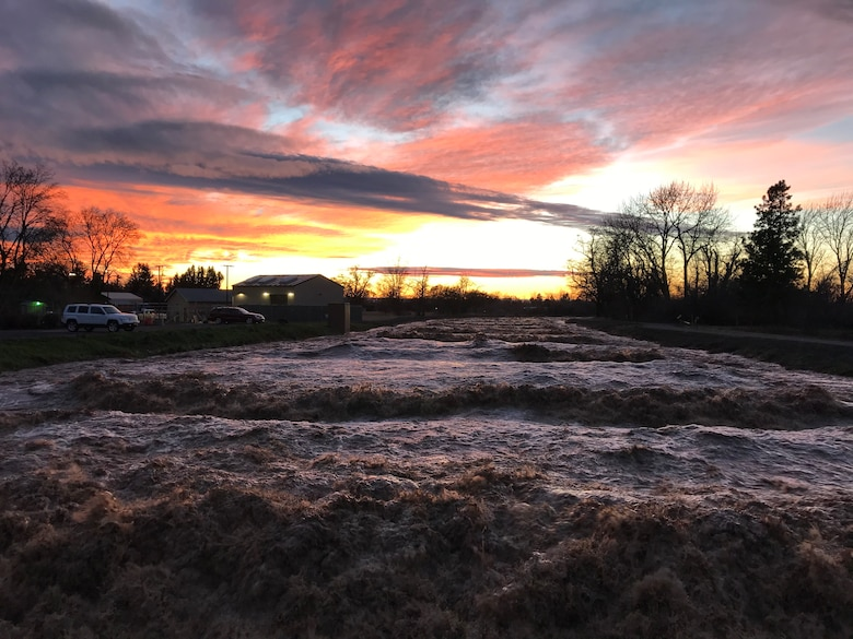 Mill Creek Channel at sunset on Feb. 7.