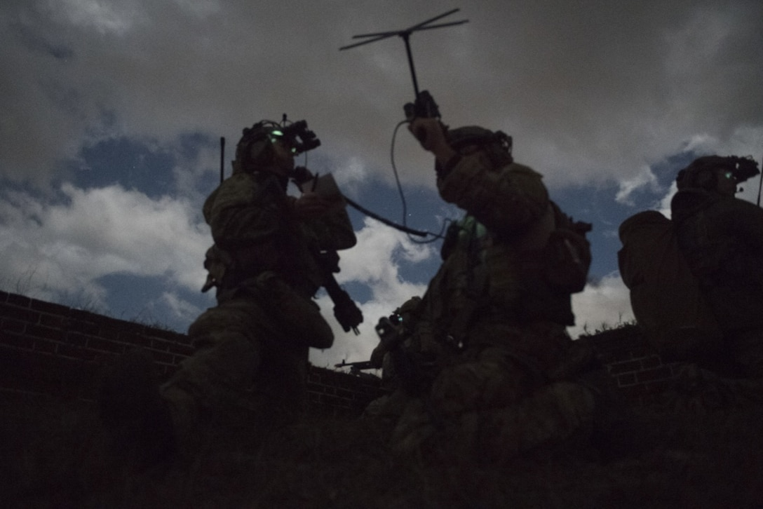 U.S. Air Force Special Tactics operators participate in exercise Southern Strike 2020, Feb. 6, 2020 at Fort Morgan, Ala. Southern Strike is a large-scale, joint and international combat exercise, which features counter insurgency, close air-support, en-route casualty care, non-combatant evacuation and maritime special operations.