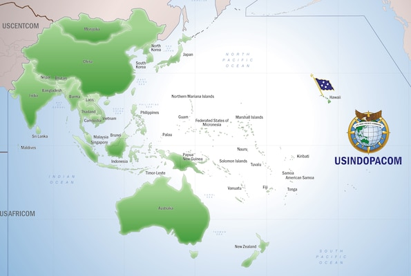 map of U.S. Indo-Pacific