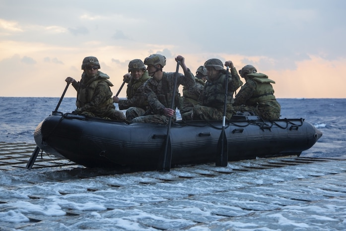 Germantown, part of the America Expeditionary Strike Group, 31st MEU team