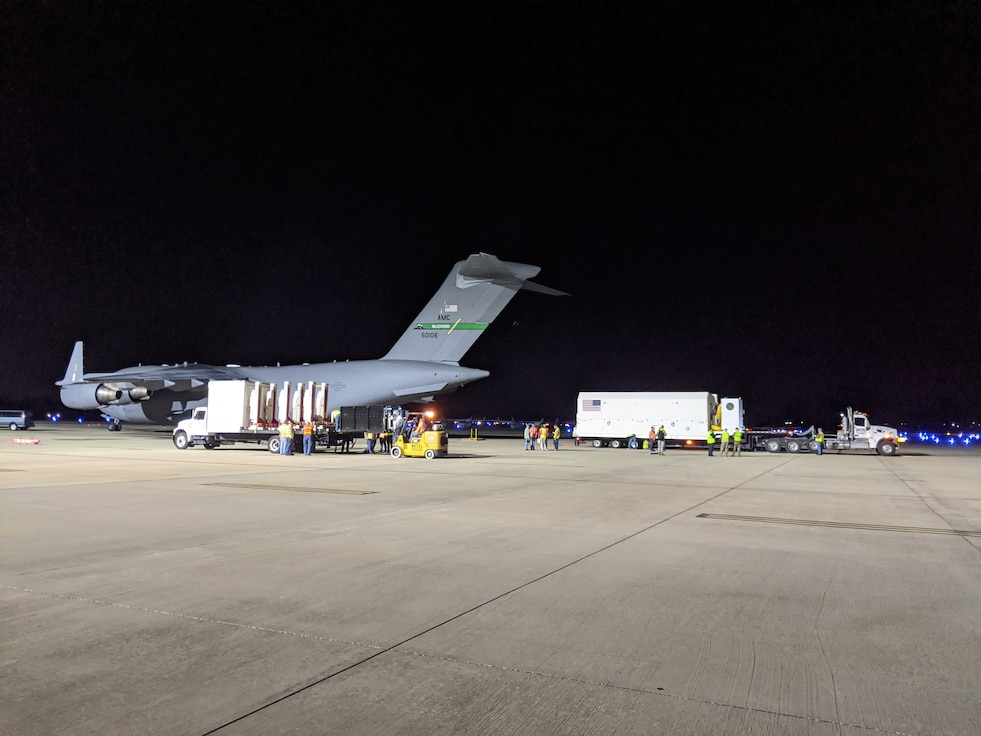 "GPS III Space Vehicle 03 ""Columbus"" safely arrives in Florida"