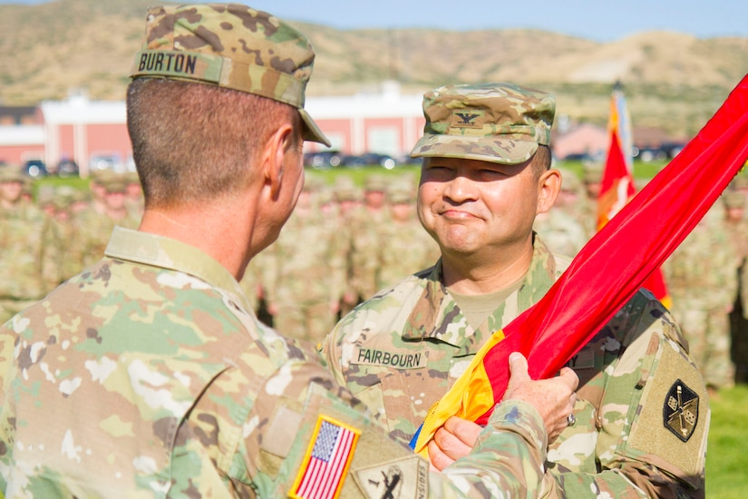Change of command/responsibility ceremony for the 65th Field Artillery Brigade